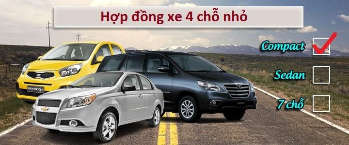 Thuê xe 4 chỗ nhỏ