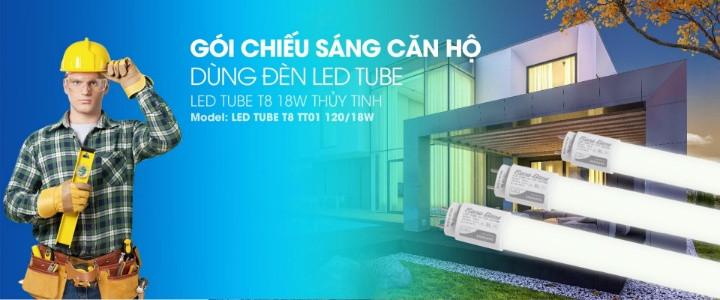 Lắp đèn LED tube 1.2m 18W