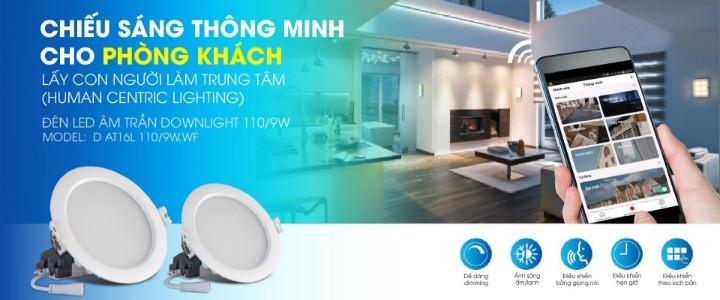 Lắp đèn Smart LED Downlight WF