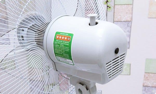 Động cơ quạt bị nóng nếu thường xuyên sử dụng công suất tối đa