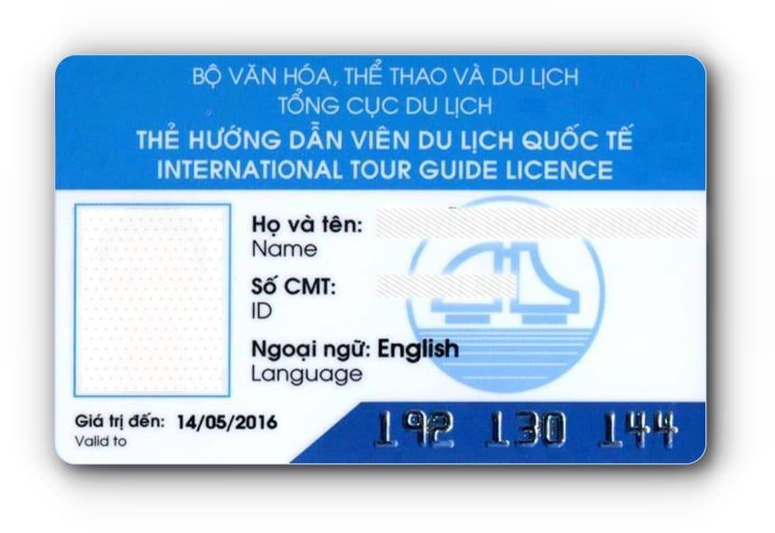 Mẫu thẻ hướng dẫn viên du lịch quốc tế