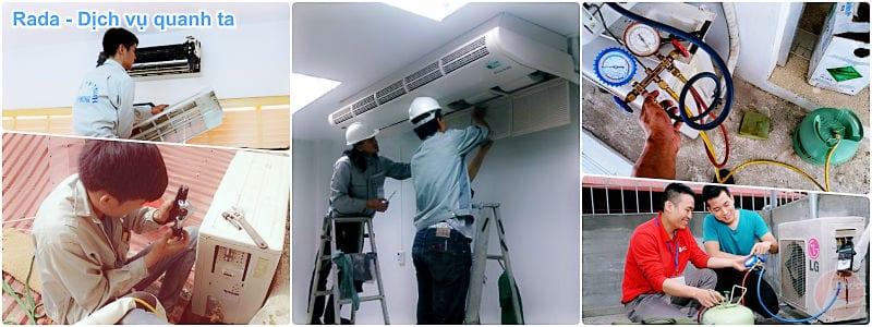Thợ sửa điều hòa, sửa máy lạnh