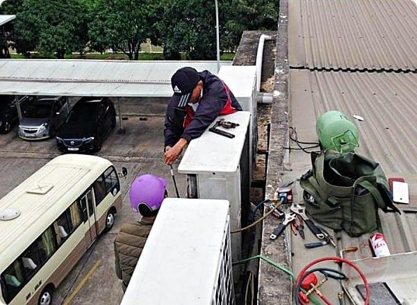 thợ điều hòa mùa nắng nóng