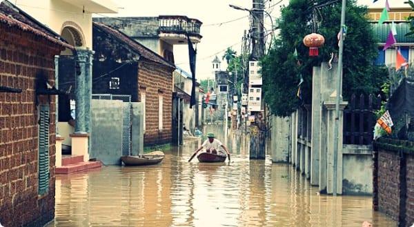 Lụt ở chương mỹ