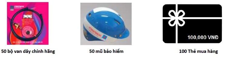 Sản phẩm khuyến mãi từ PVGas khi mua bình gas 12kg