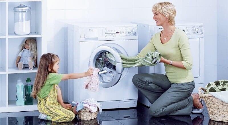 an toàn khi sử dụng máy giặt