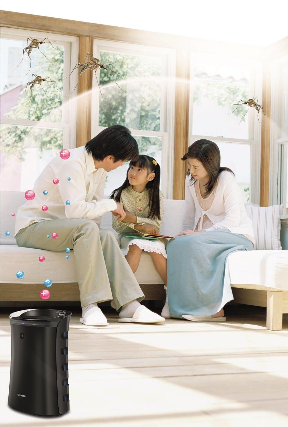 ứng dụng máy lọc không khí trong gia đình