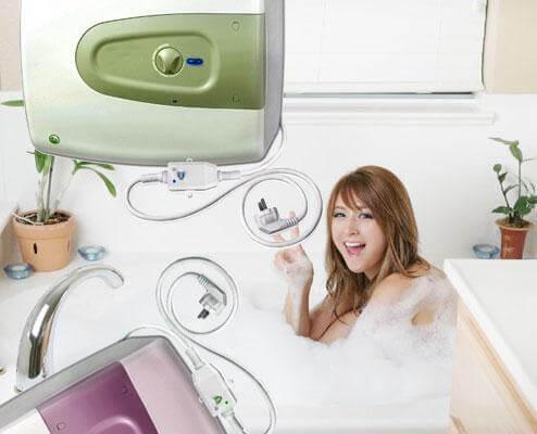 sử dụng máy nước nóng