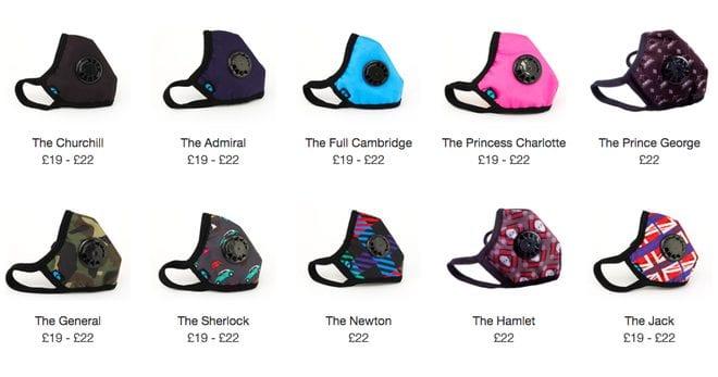 Các mẫu khẩu trang CAMBRIDGE MASK trên thị trường