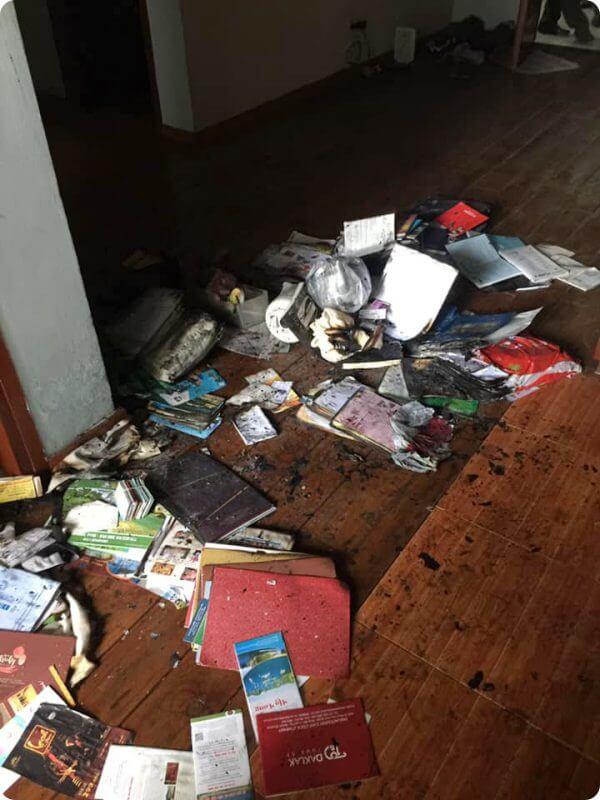 Vụ nổ bình nóng lạnh mới nhất xảy ra hôm qua tại một chung cư ở Hà Đông, Hà Nội.