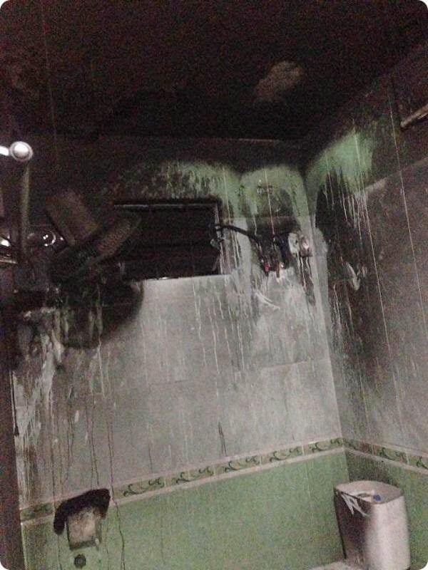 Bình nóng lạnh nổ thường dẫn đến chập điện gây cháy.