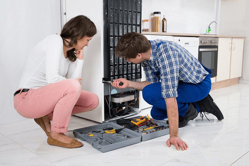 Có thể chốt cố định tủ lạnh bị lỏng gây nên hiện tượng kêu