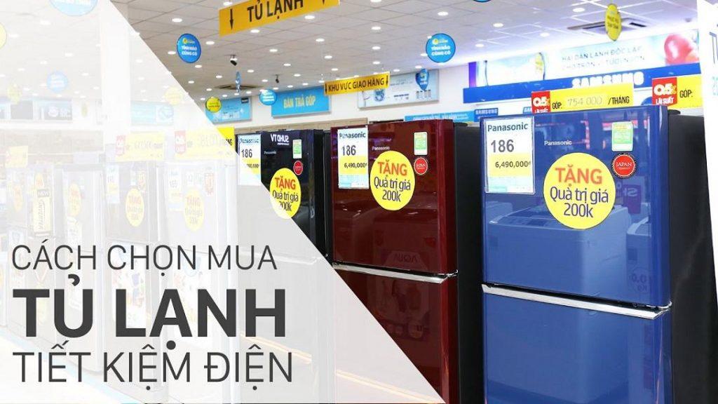 Nhận biết tủ lạnh tiết kiệm điện