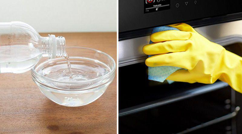 Bạn có thể thay thế chanh bằng giấm trắng để vệ sinh lò vi sóng cũng rất hiệu quả