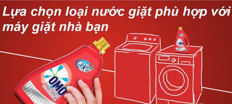Bạn nên chọn loại nước giặt riêng cho từng loại máy giặt cửa trên và cửa trước