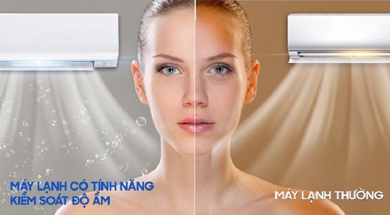 Bây giờ đã có chế độ tạo ẩm trên điều hòa giúp kiểm soát độ ẩm cho căn phòng