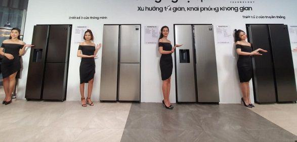 Phân biệt side by side với loại tủ lạnh multi door thông qua số lượng và cách sắp sếp cửa tủ