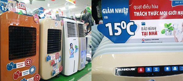 Quạt điều hòa hòa không thể giảm đến 15 độ C như quảng cáo