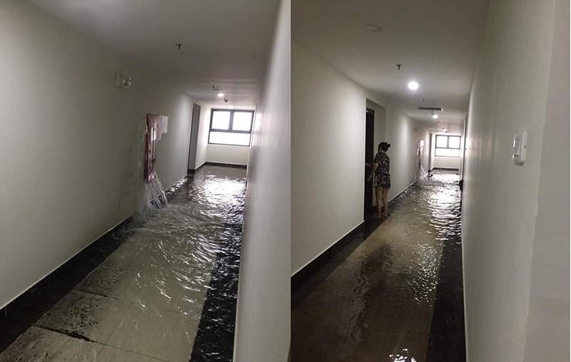 Ngập lụt tại khu dân cư vào mùa mưa