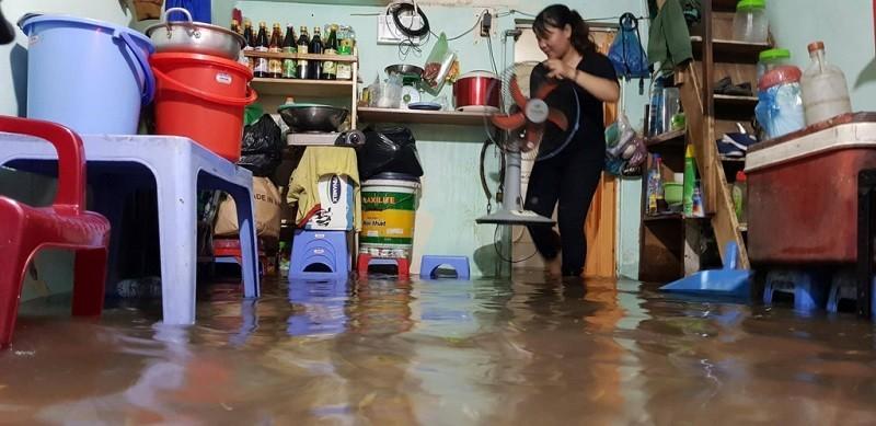 Kê cao các thiệt bị điện và ổ điện tránh không bị ngập nước