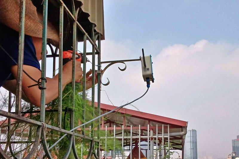 Lắp đặt thiết bị giám sát chất lượng không khí ngoài trời