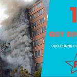 11 Quy định về PCCC cho công trình nhà cao tầng chung cư